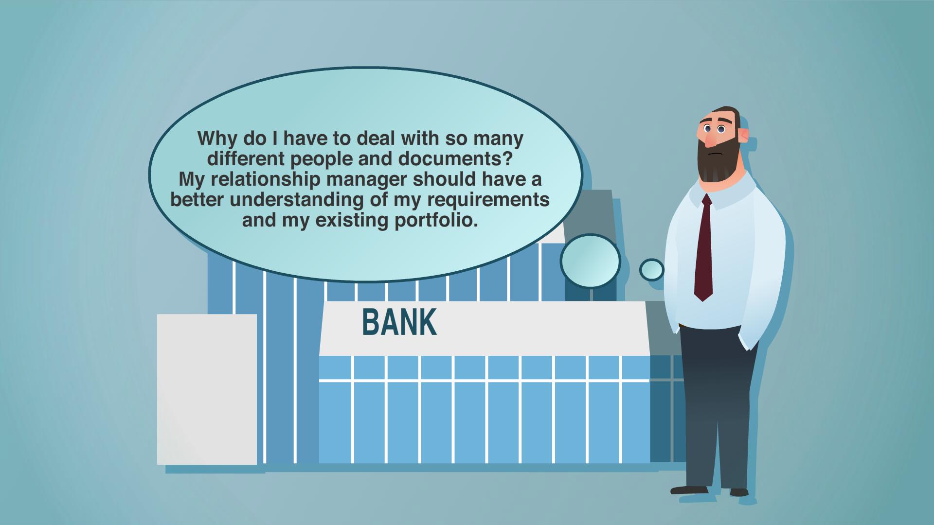 Customer data in corporate banking
