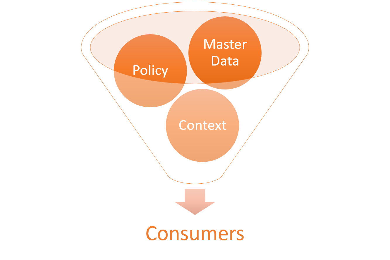 derive master data for consumers
