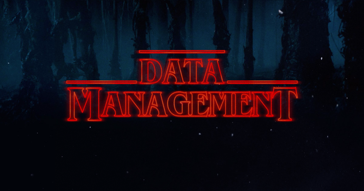 data management stranger things